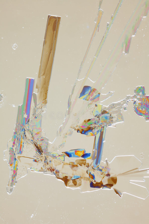 Lumière rpolarized par unde de cristaux photo stock
