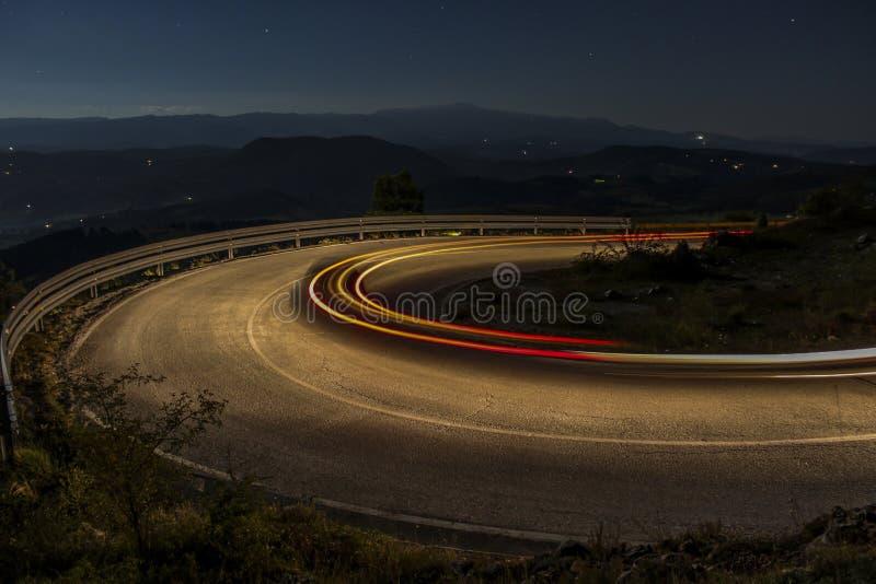 Lumière sur la route photo libre de droits