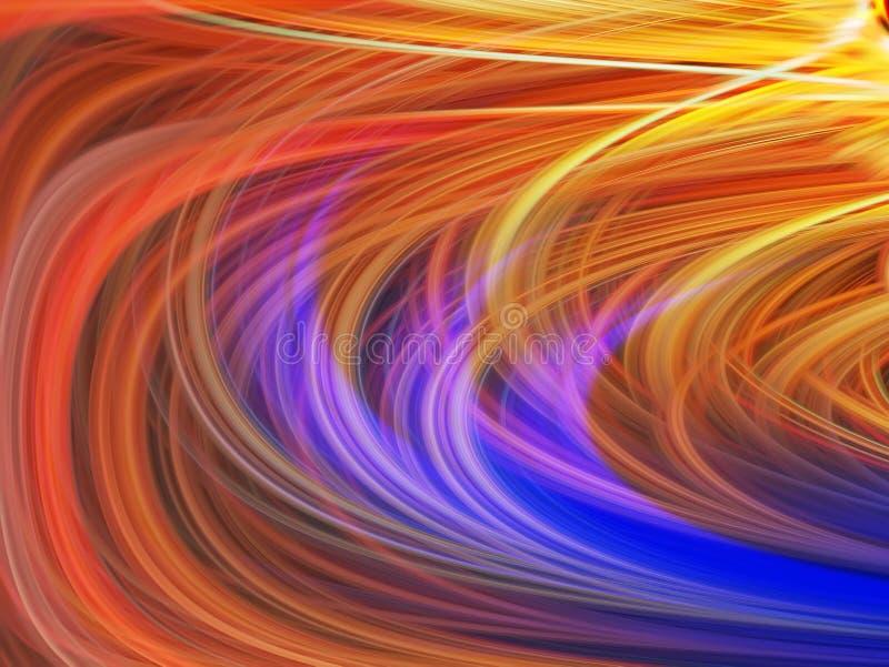 Lumière tordue abstraite optique Fond d'effet de fibres Élément d'énergie de puissance Hypnotisez les vagues cosmiques de mouveme photo stock
