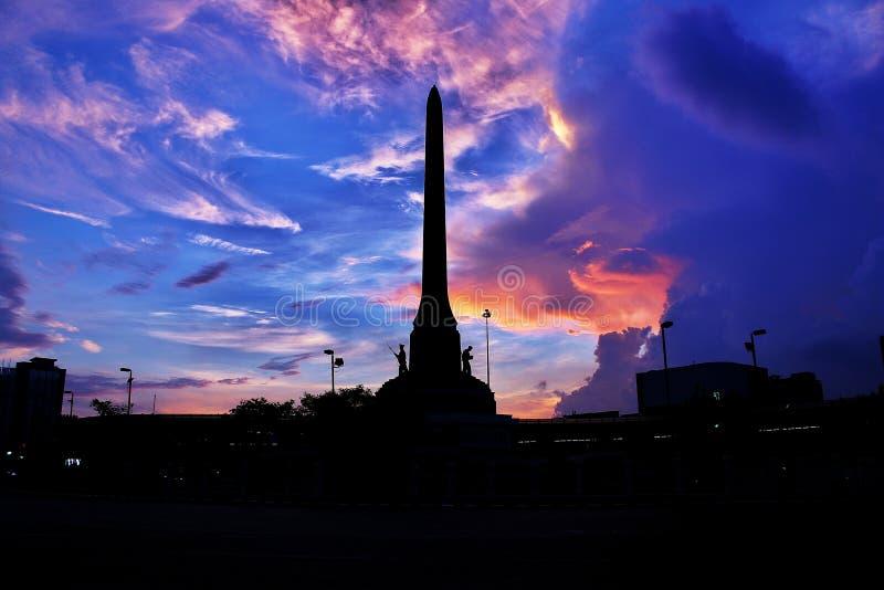 Lumière Victory Monument de matin de Bangkok Thaïlande photos stock