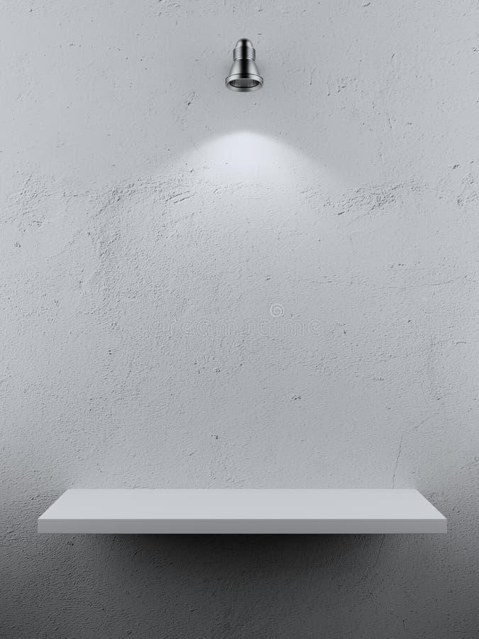 Lumière vide de tache d'étagère photographie stock libre de droits