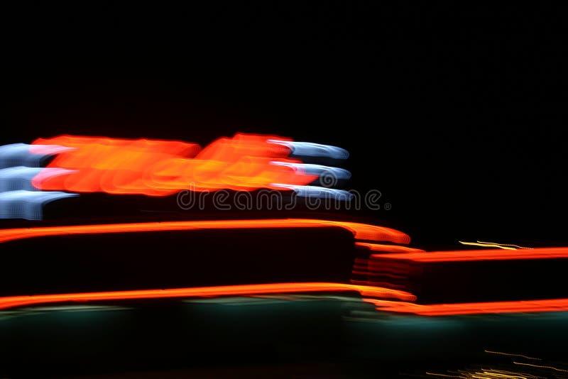 Lumières à Travers Le Ciel Image stock
