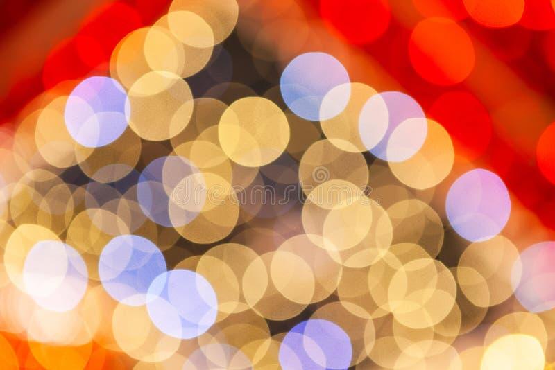 Lumières abstraites de fond, un regard abstrait aux lumières de Noël photos stock