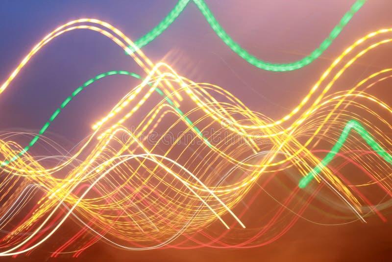 Lumières abstraites multicolores de photo pour le fond images stock