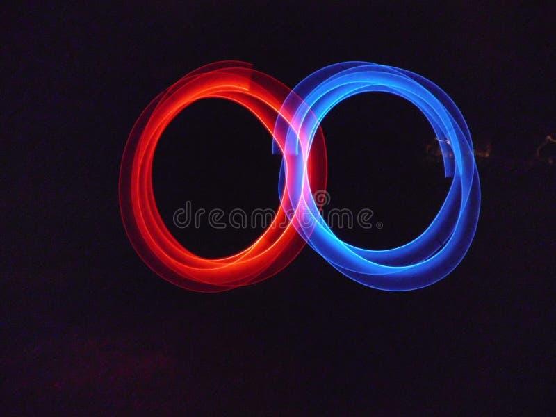 Lumières abstraites rouges et bleues image libre de droits