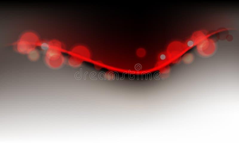 Lumières abstraites sur le fond propre d'onde illustration libre de droits