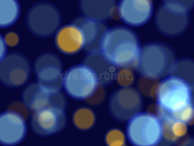 Lumières bleues illustration de vecteur