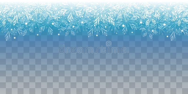 Lumières brillantes de Noël sur le fond transparent illustration libre de droits