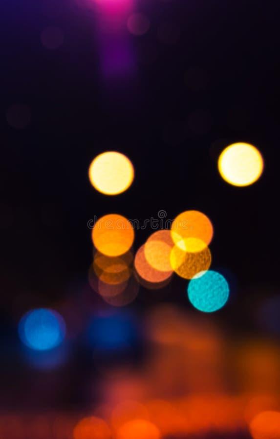 Lumières brouillées colorées, bokeh photo libre de droits
