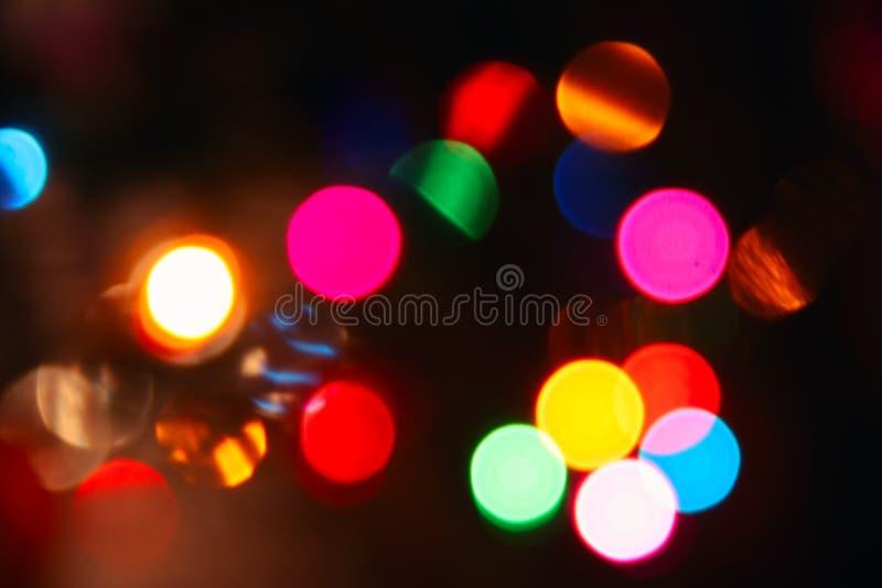 Lumières brouillées colorées, photo de bokeh images libres de droits