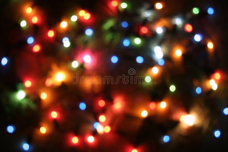 Lumières brouillées d'arbre images libres de droits