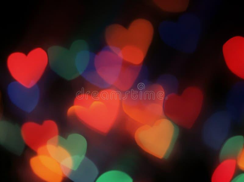 Lumières brouillées en forme de coeur photos libres de droits