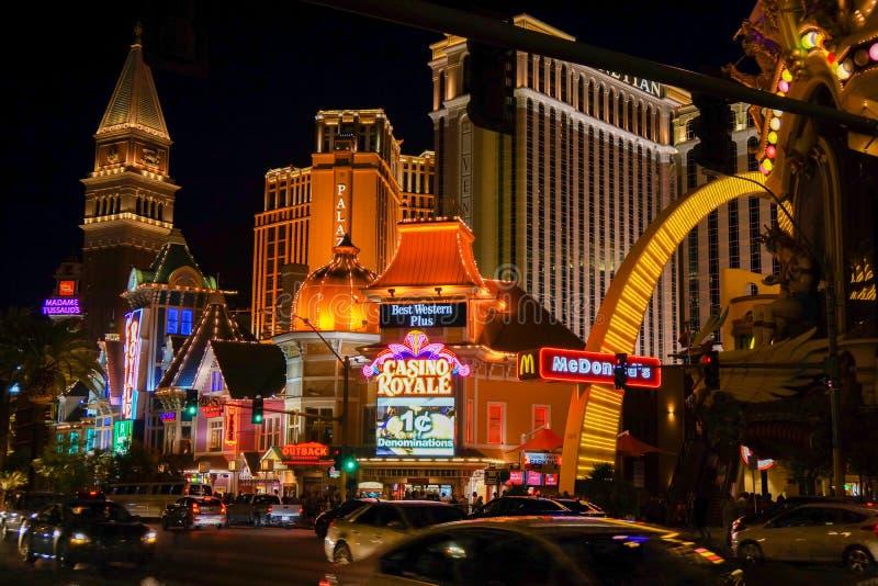 Lumières clignotantes à Las Vegas photo libre de droits