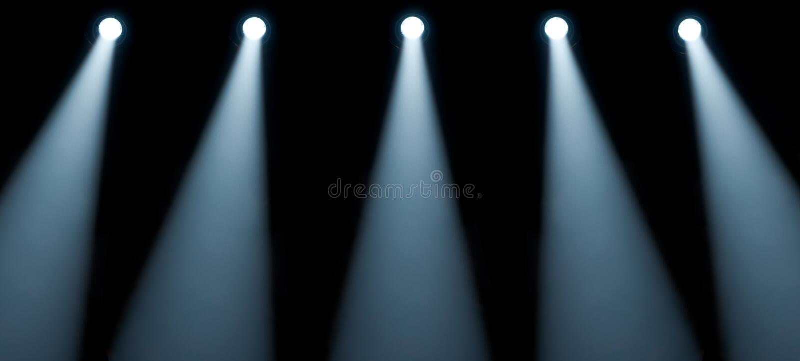 Lumières d'étape image stock