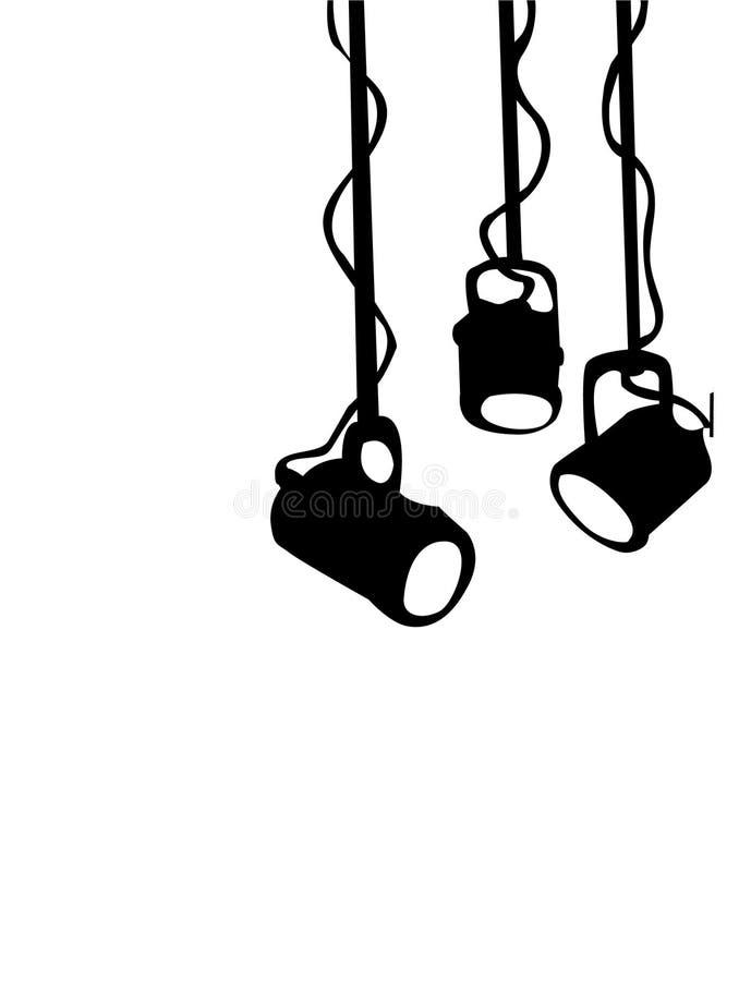 Lumières d'étape illustration libre de droits