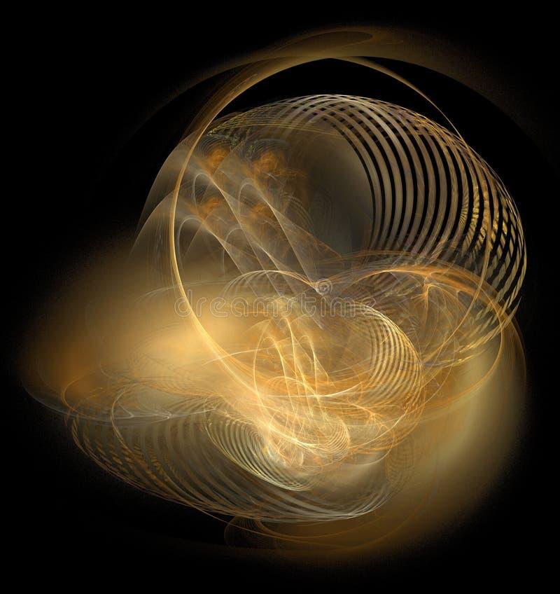 Lumières d'or abstraites illustration libre de droits