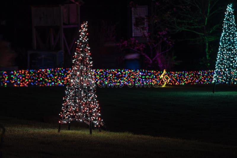 Lumières d'arbre de Noël faites images libres de droits