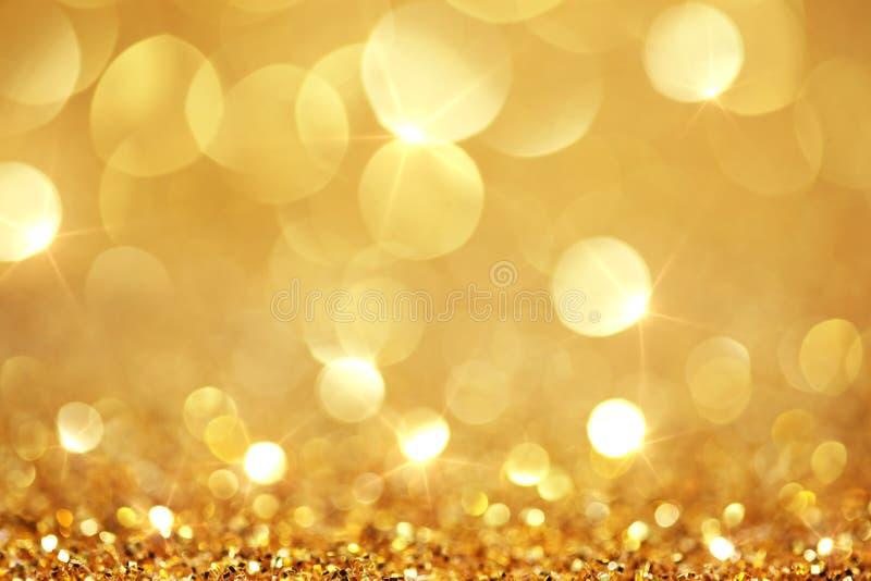 Lumières d'or brillantes photographie stock