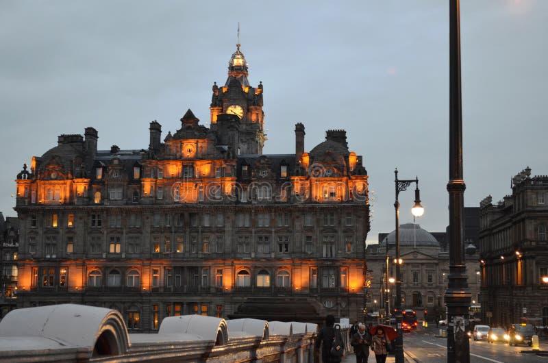 Lumières d'Edimbourg photographie stock