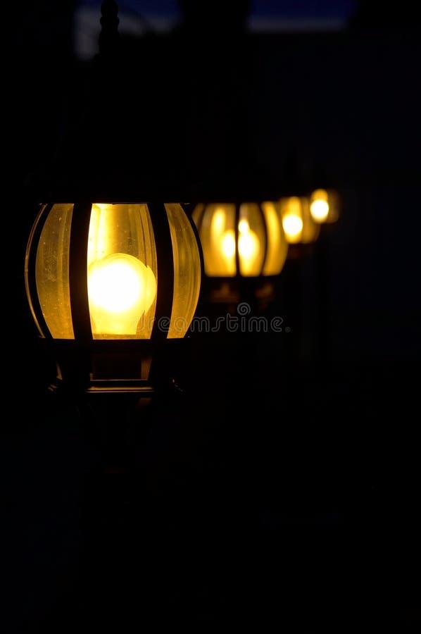 Lumières dans l'obscurité photo libre de droits