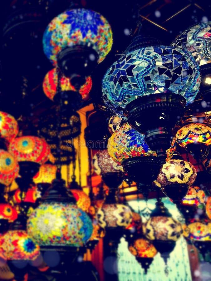 Lumières dans le Bazar grand photo libre de droits