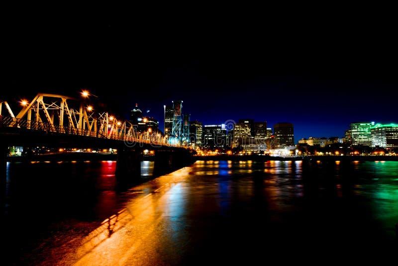 Lumières de attirance de nuit de Portland photos stock