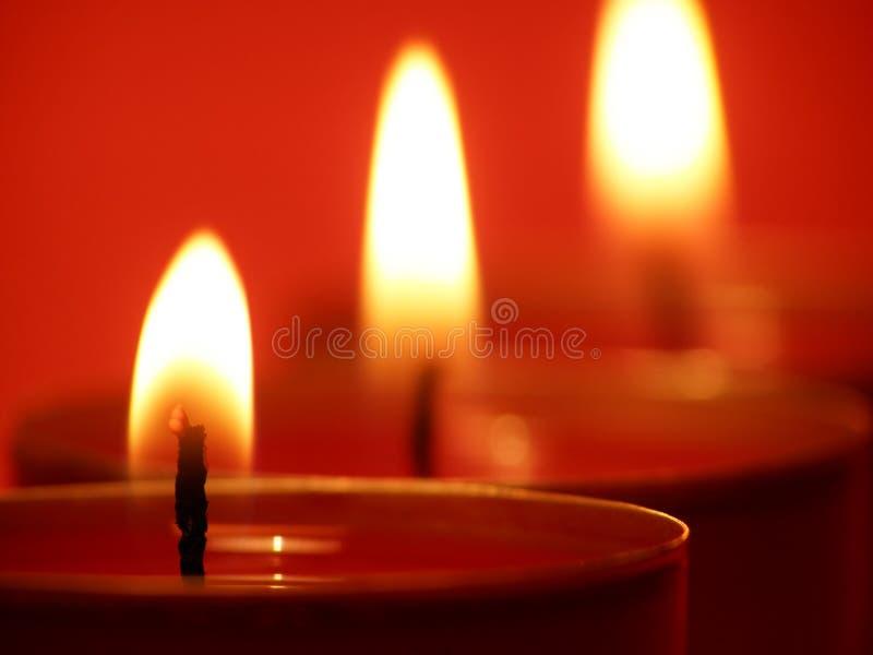 Lumières de bougie photo stock