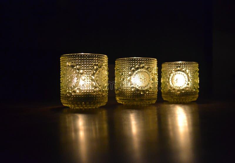 Lumières de bougie photographie stock