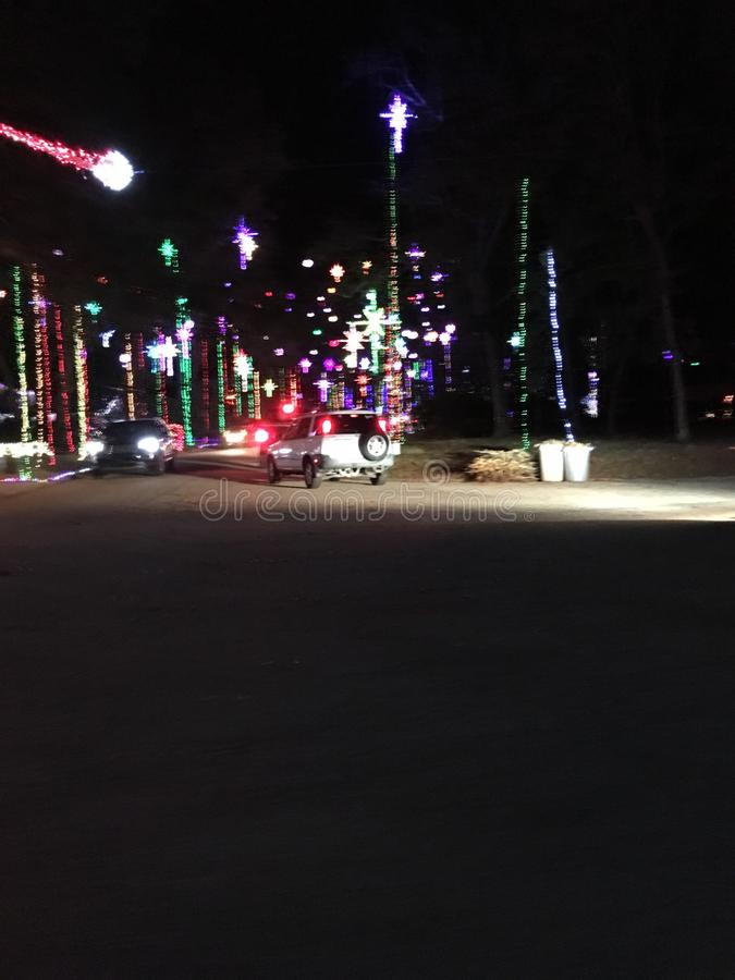 lumières de christmast photographie stock libre de droits