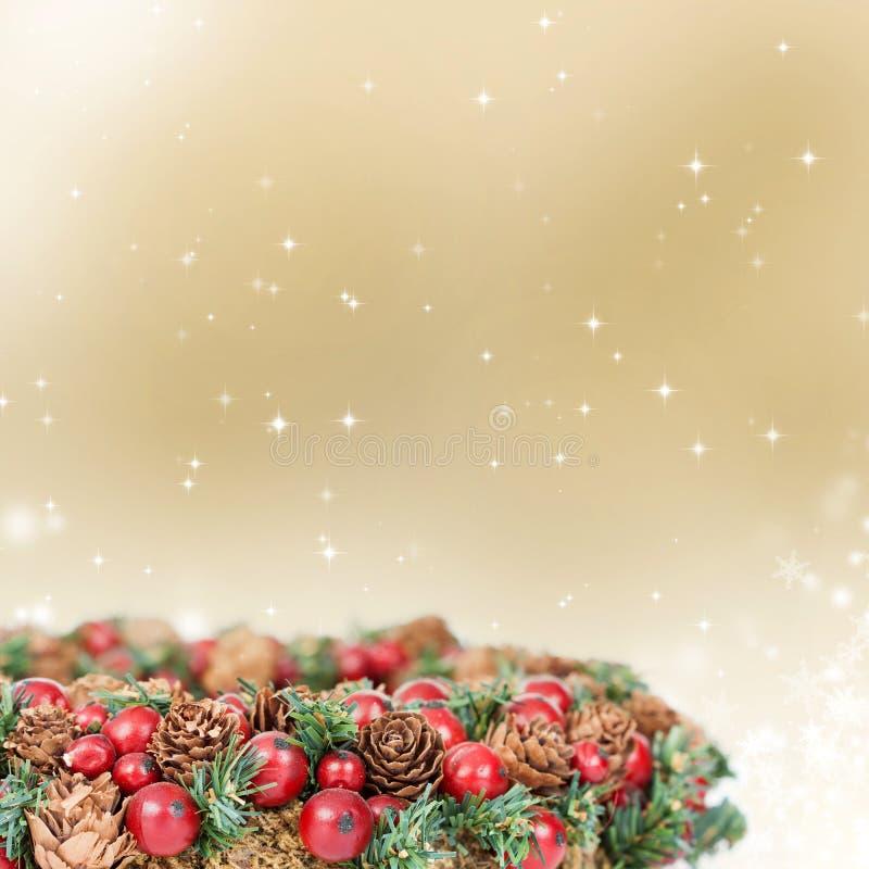 Lumières de décoration et de vacances d'arbre de Noël image libre de droits