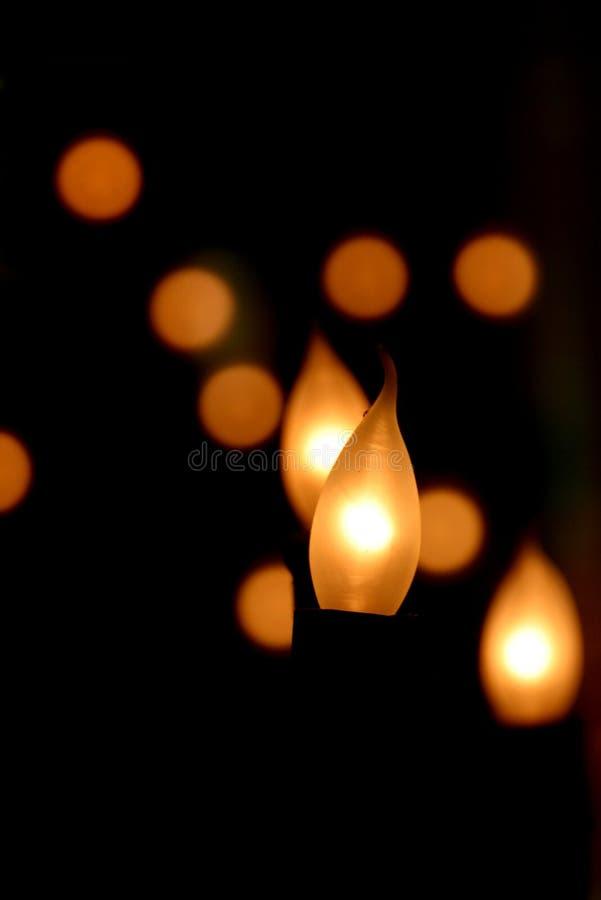 Lumières de flamme photo libre de droits