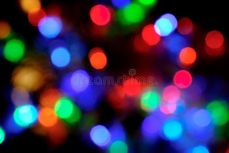 Lumières de flou de Bokeh photo libre de droits