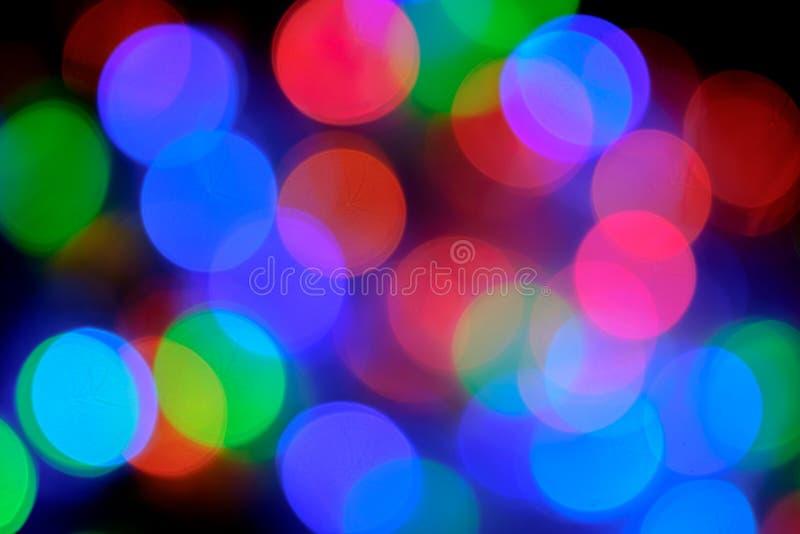 Lumières de flou de Bokeh image stock