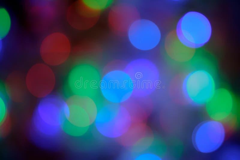 Lumières de flou de Bokeh images libres de droits