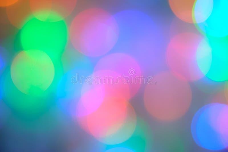 Lumières de flou de Bokeh image libre de droits