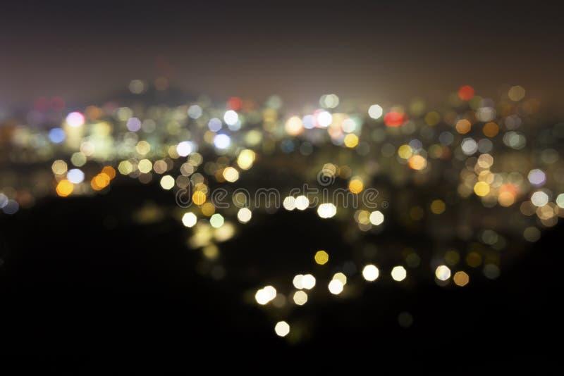 Lumières de flou de ville photo stock