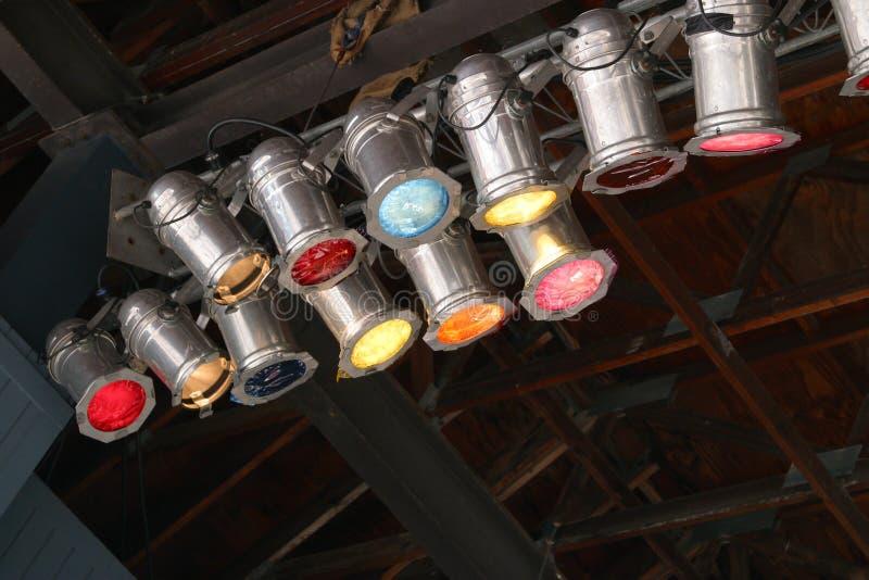 Lumières de Klieg photo libre de droits