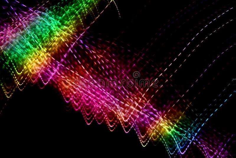 Lumières de l'espace d'arc-en-ciel photos libres de droits