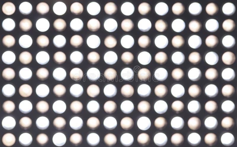 Lumières de la tache floue LED images stock