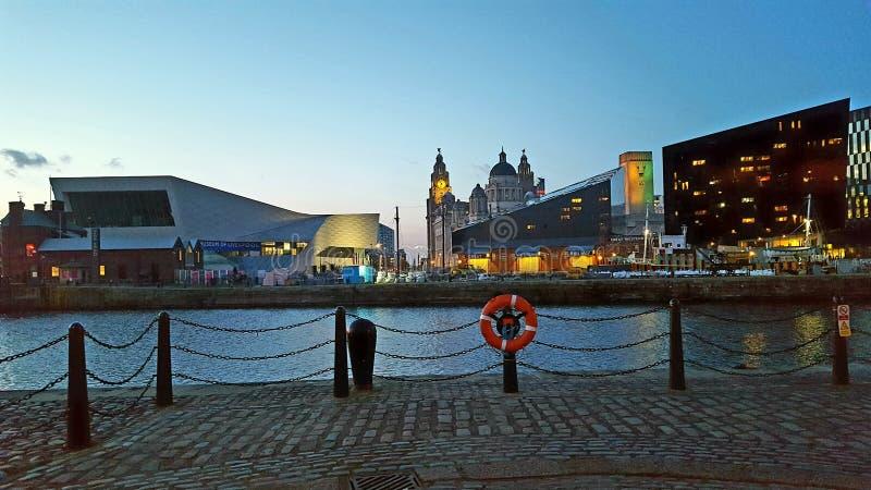 Lumières de Liverpool images stock