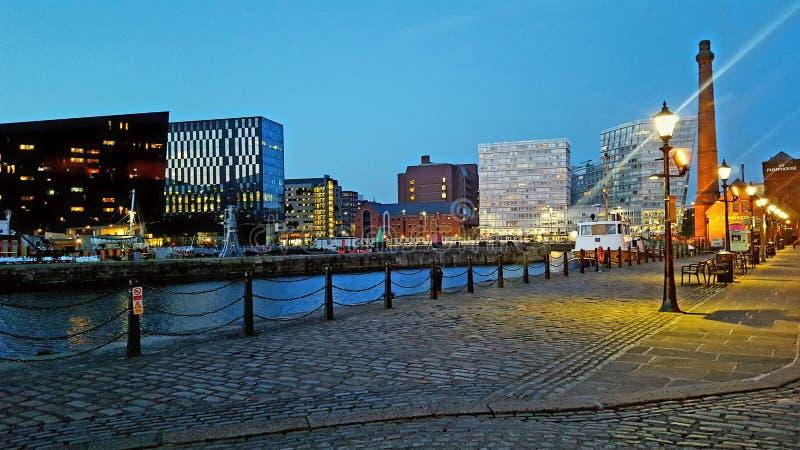 Lumières de Liverpool photographie stock libre de droits