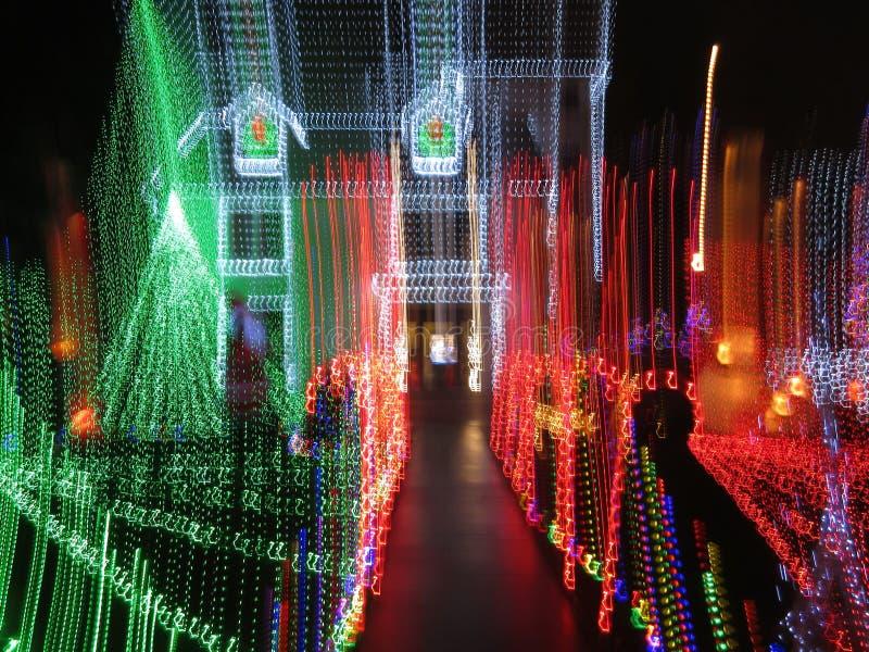 Lumières de maison de Noël dans le Washington DC photographie stock libre de droits