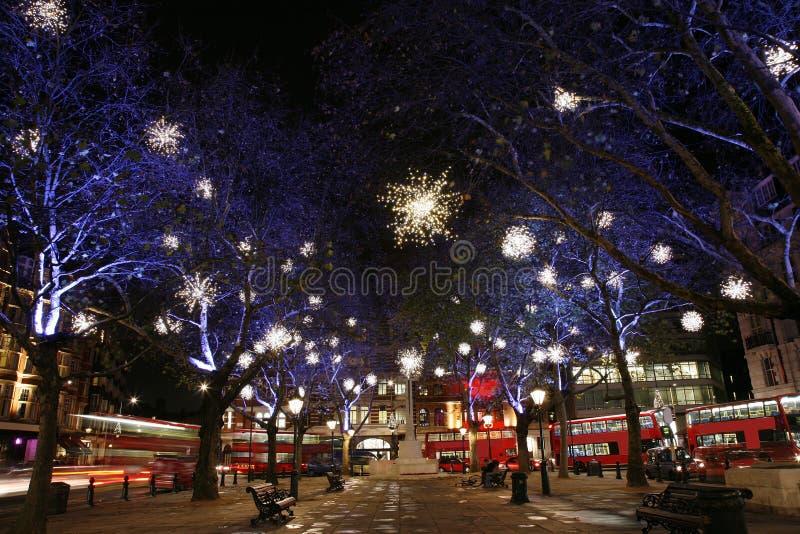 Lumières de Noël à Londres photographie stock libre de droits