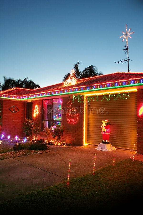 Lumières de Noël images stock