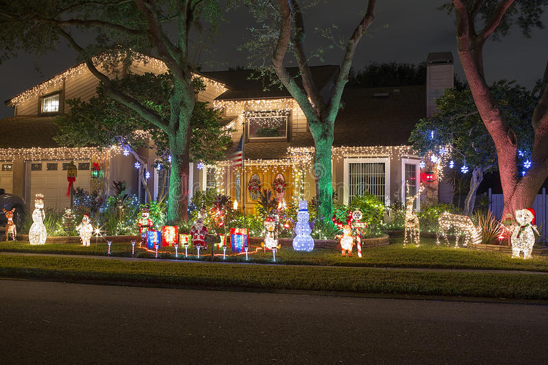 Lumières de Noël photographie stock