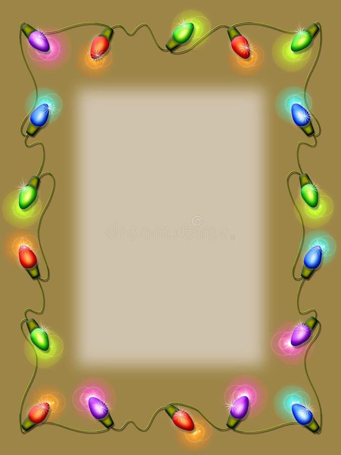 Lumières de Noël illustration libre de droits
