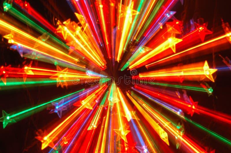 Lumières de Noël abstraites images libres de droits