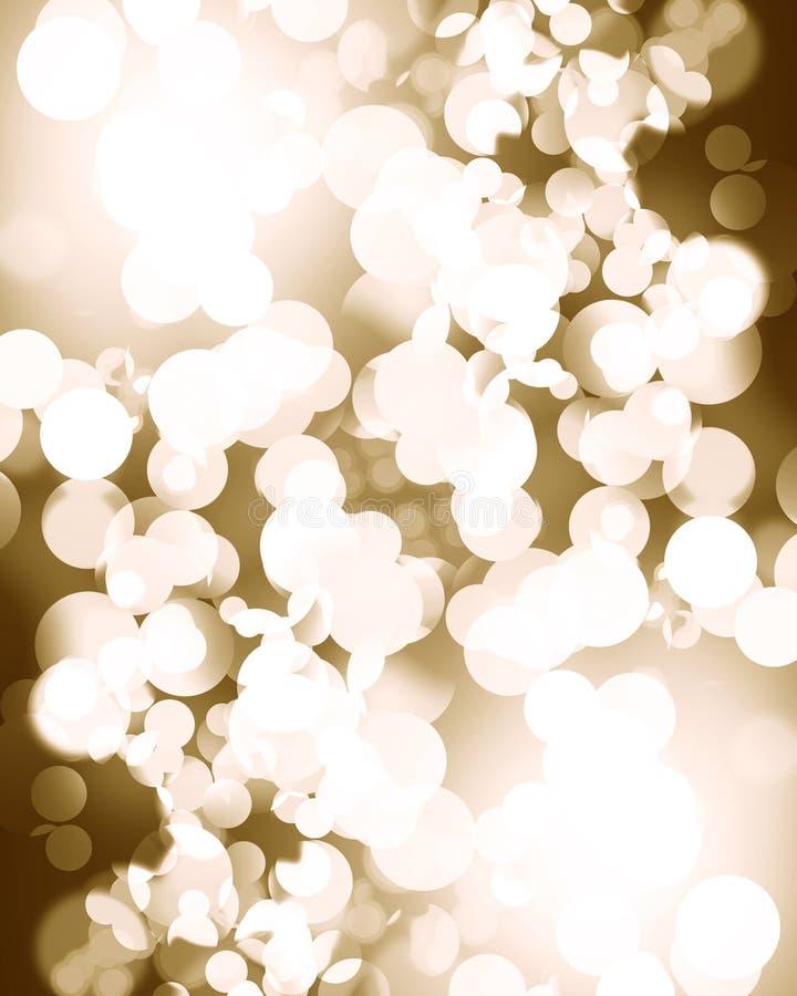 Lumières de Noël argentées brouillées illustration libre de droits