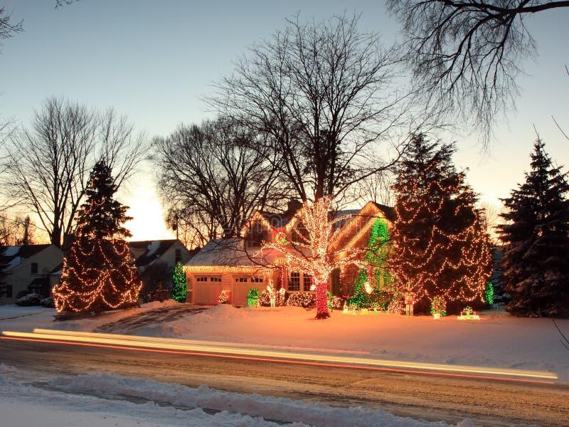 Lumières de Noël au Minnesota photos libres de droits