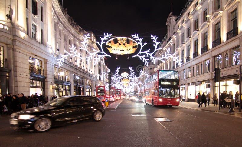 Lumières de Noël de Londres image stock